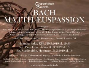 Bach Matthæuspassion plakat